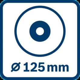 Disc diameter 125 mm