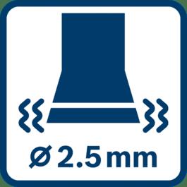 Vibration emission value ah ∅ 2.5 mm