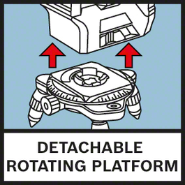 Detach. Rotating Platform Rotating mini tripod makes fine positioning easier