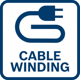 User-friendly thanks to cable winding function