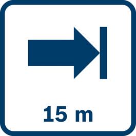 Working range up to 15 m