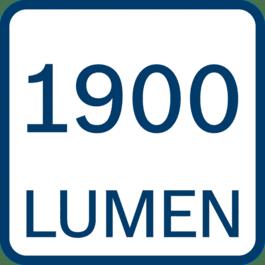 1900 lumens
