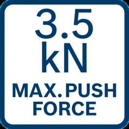 Maximum push force 3.5 kN