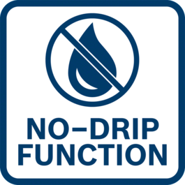 No material ovewflow thanks to no-drip function - rack will pull back automatically when the trigger is released