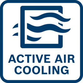 Faster charging thanks to active air cooling