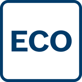 Eco-Mode: Power supply is less than in standard mode