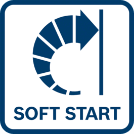 Soft start as the load and torque of the motor are temporarily reduced during start-up.