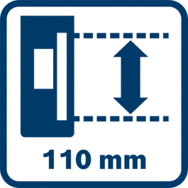 Long reception area 110 mm