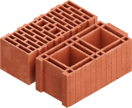 Hollow brick building block