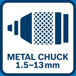 Keyless metal chuck 1.5-13 mm
