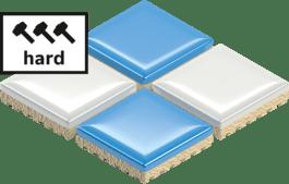 Hard tiles
