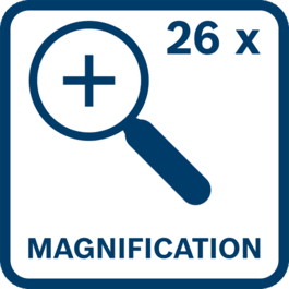 Magnification 26x