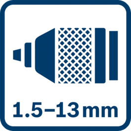 Metal chuck 1.5 - 13.0 mm