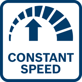 Best work results with constant speed thanks to electronic regulation of speed - even under load