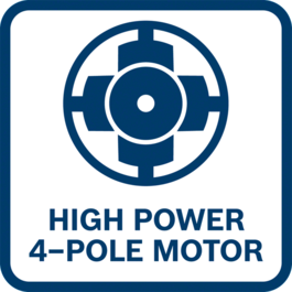 Powerful More power than a same sized 2-pole motor